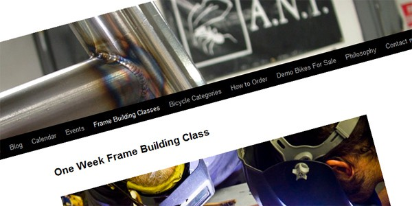 ANT Bikes Frame building class