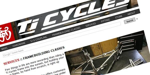 Ti Cycles Frame Building Class