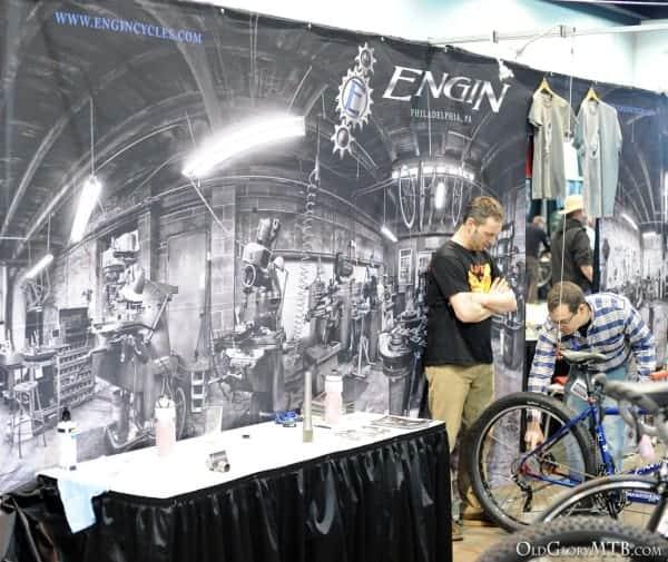 Engin Cycles booth at 2013 NAHBS