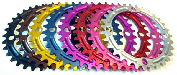 Home Brewed Components makes their chainrings in many colors