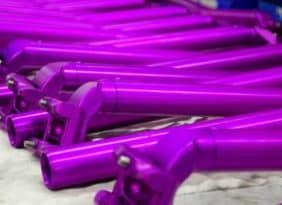 purple ano Tall & Handsome seatpost