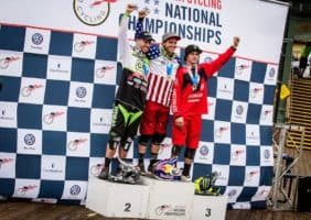 Pro Men's Downhill Podium