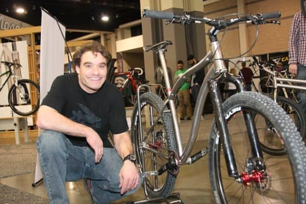 Jim Busby with his bike
