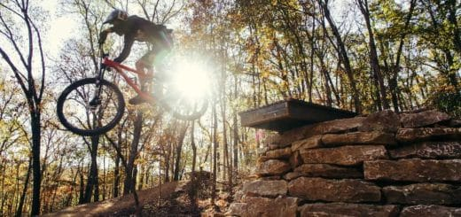 Coler mountain bike trail in Arkansas